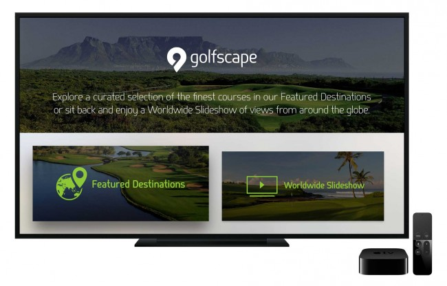 golfscape Apple TV app