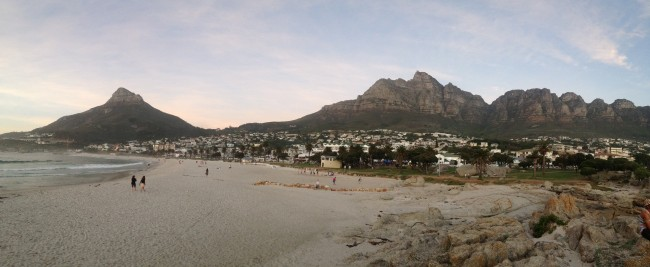 Camps Bay Beach at Sunset