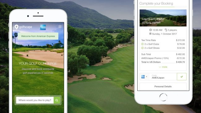 golfscape Partners with American Express