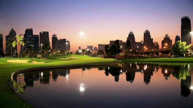Emirates Golf Club Dubai Twilight