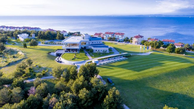 adriatic golf course clubhouse aeiral image