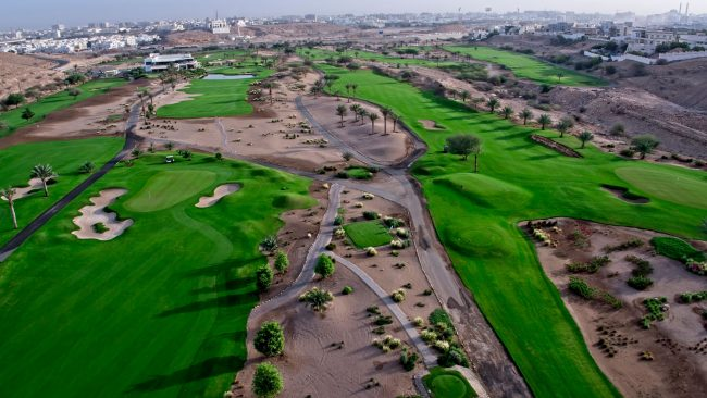 ghala golf club aeiral course view