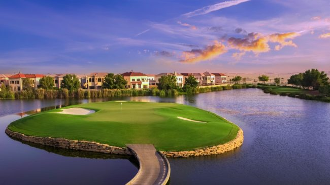 jumeirah golf estate lake views