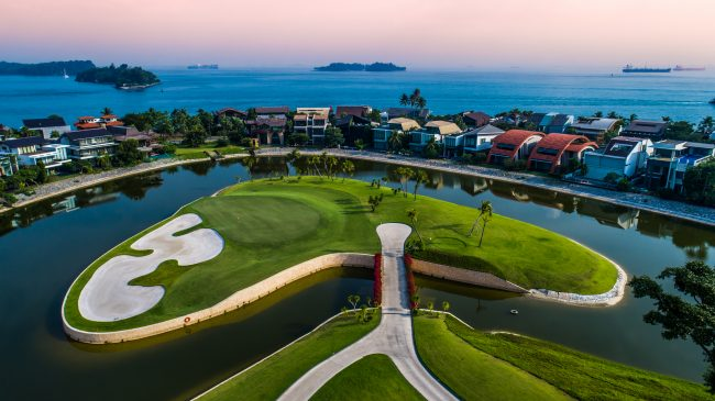 sentosa golf club tanjong course view