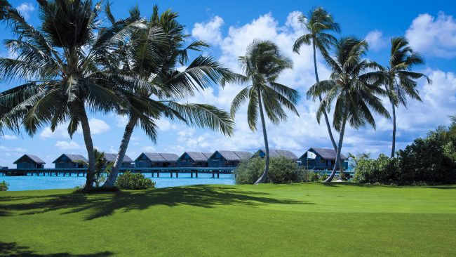 the villingili golf course water bungalows