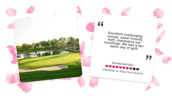 emirates golf club majlis course dubai